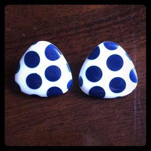80s Polka Dot Earrings